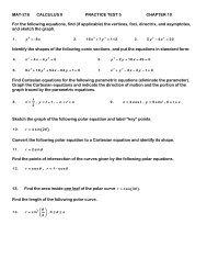 Pre-Calculus 11 Unit 5 -- Radicals Practice Test A  Pythagorean