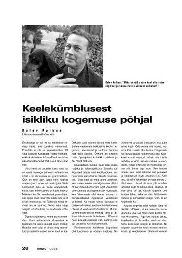28 -29 Kalev Kalkun.qxd - Haridus