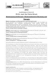 Bindungsbasierte Beratung und Therapie - PD Dr. med. Karl Heinz ...
