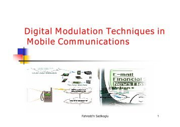 digital modulation in data communicaion Introduction to digital modulation in digital wireless communication systems, the modulating data, video 3 ee4367 telecom.