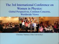 The 3rd International Conference on Women in ... - RHIG AT YALE