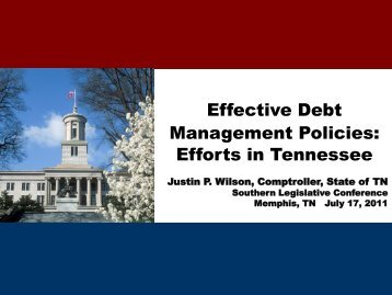 Effective Debt Management Policies - Tennessee Comptroller of the ...