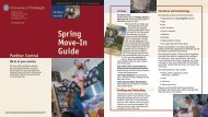 Spring Move-In Guide - Panther Central - University of Pittsburgh