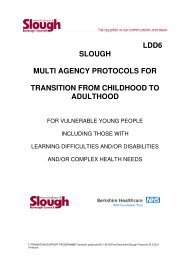 Multi - agency Protocols for Transition from Childhood to Adulthood ...