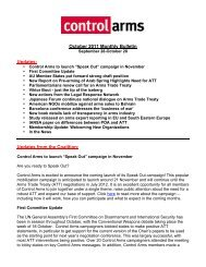 October 2011 Monthly Bulletin Updates: Updates ... - Control Arms