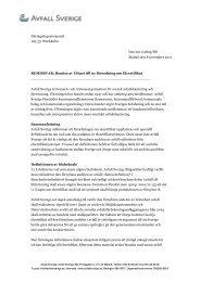 REMISSVAR: Remiss av Utkast till ny förordning om ... - Avfall Sverige