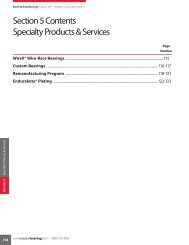 Section 5 Contents Specialty Products & Services - Kaydon Bearings