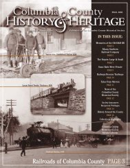 Railroads of Columbia County PAGE 3 - Columbia County Historical ...