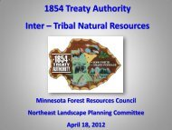 1854 Treaty Authority - Minnesota Forest Resources Council