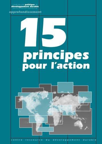 15 principes pour l'action - Uccle