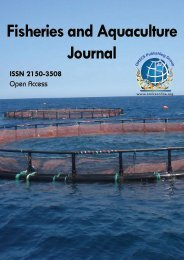 Fisheries and Aquaculture Journal