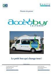 Dossier de presse - Accèobus le petit bus qui change tout