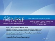 Download the slides of this presentation - National Patient Safety ...