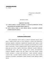 Stanovisko Legislativní rady vlády - Co je diskriminace