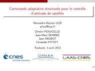 Commande adaptative structurée pour le contrôle d'attitude de satellite