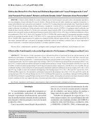 Efeitos das Dietas Pré e Pós-Parto na Eficiência Reprodutiva de ...