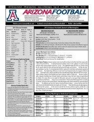 Game 4 Notes - University of Arizona Athletics