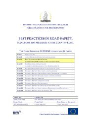 BEST PRACTICES IN ROAD SAFETY. - ERSO - SWOV