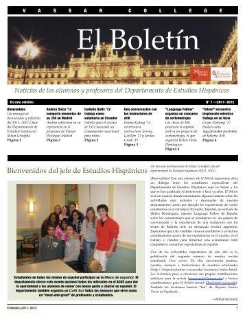 1 - 2011-2012 - Hispanic Studies - Vassar College