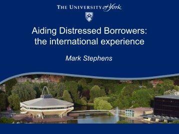Aiding Distressed Borrowers: the international experience