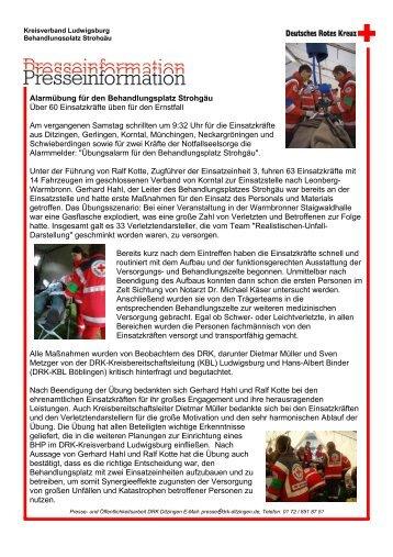 zum Bericht - DRK Ortsverein Schwieberdingen