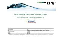 (epd) of detergents and cleaning products of - The International EPD ...