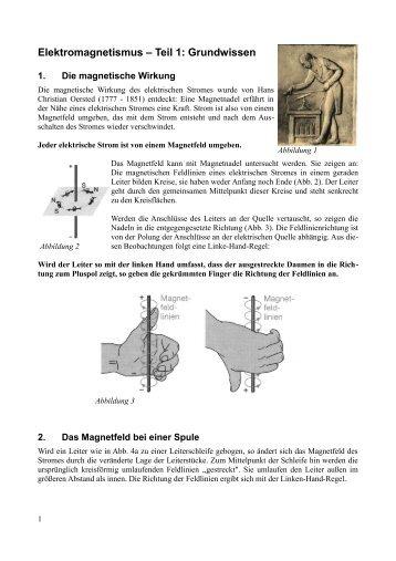 Elektromagnetismus – Teil 1: Grundwissen