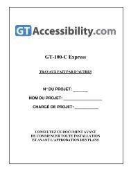 GT-100-C Express - Global Tardif Groupe manufacturier d'ascenseurs