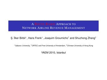 A Route-Based Approach to Network Airline Revenue Management