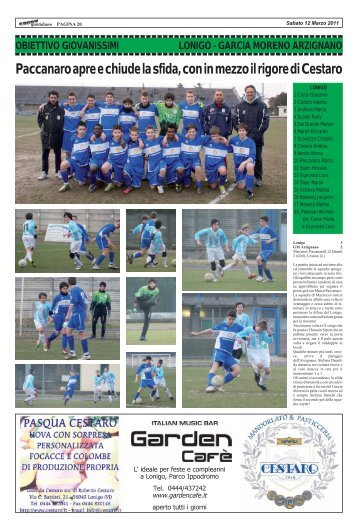 6 marzo 2011 - LONIGO - GM ARZIGNANO - SPORTquotidiano