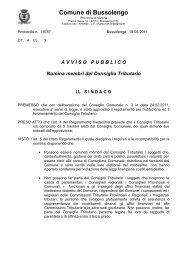 Avviso pubblico nomina membri Consiglio Tributario - Comune di ...