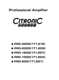 荷兰01 citronic PRO-600 PRO-1000 PRO-1600 ... - Surplustronics