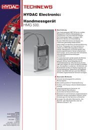 Handmessgerät HMG 500. HYDAC Electronic: