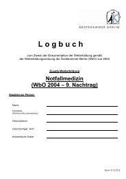 Logbuch Zusatz-WB Notfallmedizin_9 NT - Ärztekammer Berlin
