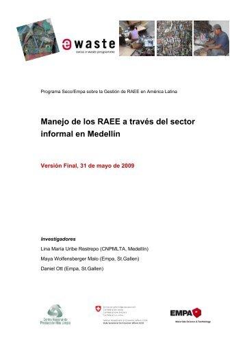 Manejo de los RAEE a través del sector informal en Medellín
