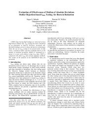 Evaluation of Effectiveness of Median of Absolute Deviations Outlier ...