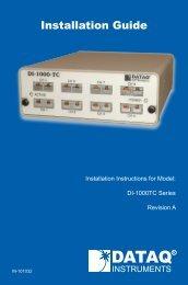 Installation Guide - DATAQ Instruments
