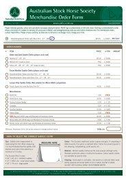 ASHS Merchandise - Australian Stock Horse Society