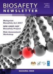 Malaysian Biosafety Act 2007 - NRE