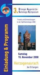 Einladung & Program m - Augen-Praxisklinik Dr. Haas, Prof. Küchle ...