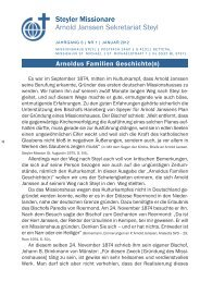 Rundbrief Nr. 01/2012 - Steyler Freundes- und Partnerkreise