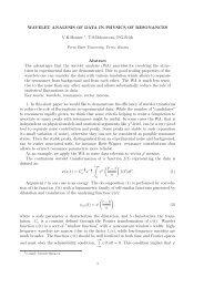 WAVELET ANALYSIS OF DATA IN PHYSICS OF RESONANCES ...