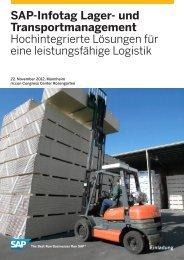 SAP-Infotag Lager- und Transportmanagement ... - SAP.com