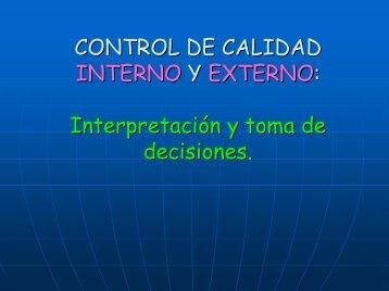 El día a día del control de calidad interno y externo. Interpretación y ...