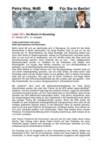 Letter 121 - Petra Hinz