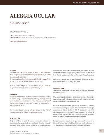 ALERGIA OCULAR - Clínica Las Condes