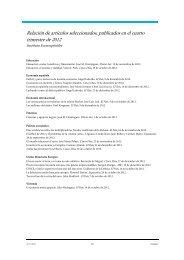 Relación de artículos seleccionados, publicados en el ... - extoikos