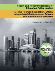 Report and Recommendations for Education Policy Leaders from ...