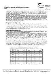 Empfehlungen zur Zuckerrübendüngung - AGRAVIS Ems-Jade GmbH