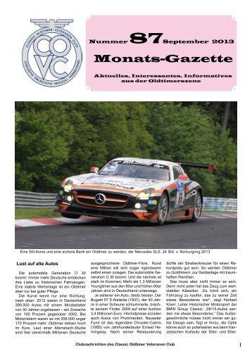 Monats-Gazette - Classic Oldtimer Veteranen Club